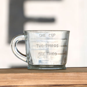 Vintage-Style Glass Measuring Cup
