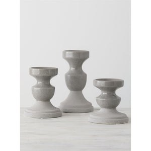Dark Gray Candle Holders