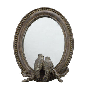 Framed Mirror w/Birds