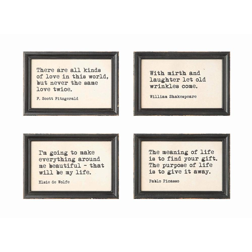 Framed Wall Decor w/Saying