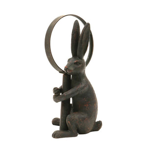 Pewter Magnifying Glass w/Rabbit Stand