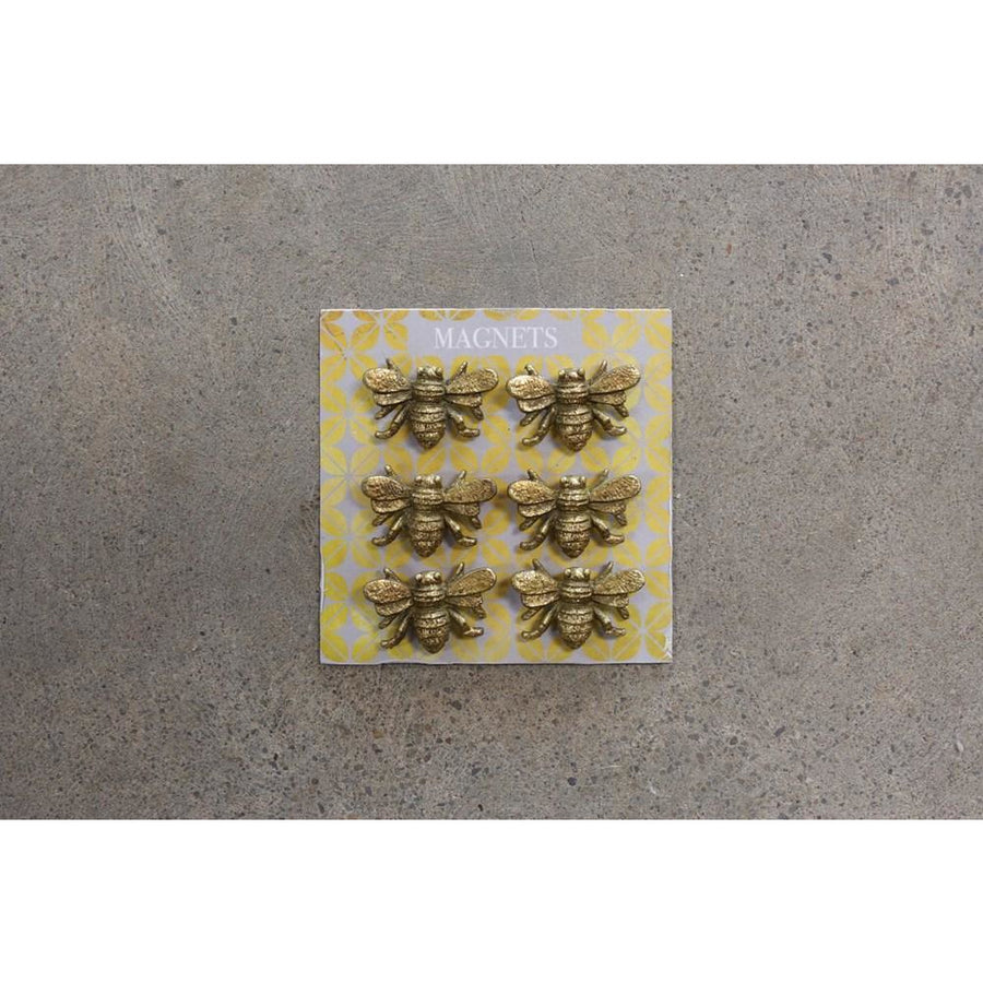 S/6 Pewter Bee Magnets