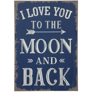 """I Love You To The Moon..."" Wall Decor"