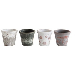 "Distressed Clay Pot - 3-1/2"" H"