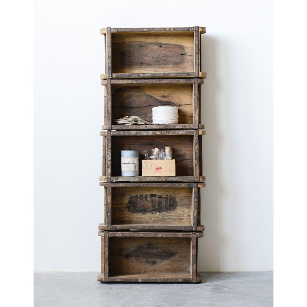 Found Wood Brick Mould Shelf w/5 Shelves