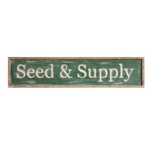 """Seed & Supply"" Wood Framed Wall Decor"
