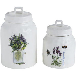 Stoneware Canister w/Lavender