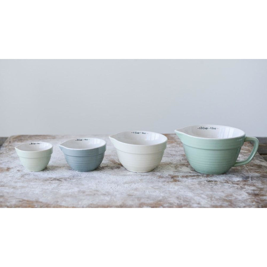 Stoneware Batter Bowl Shaped Measuring Cups