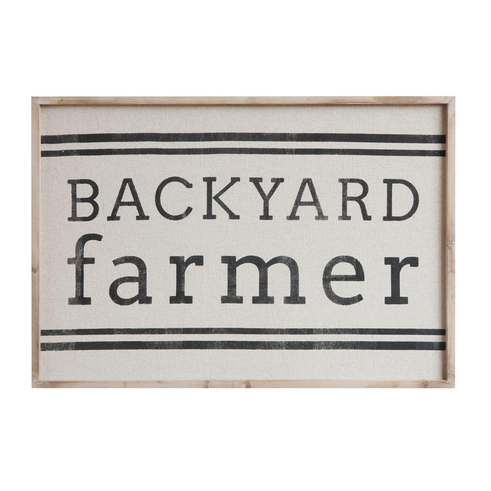 """Backyard Farmer"" Wood Framed Wall Décor"