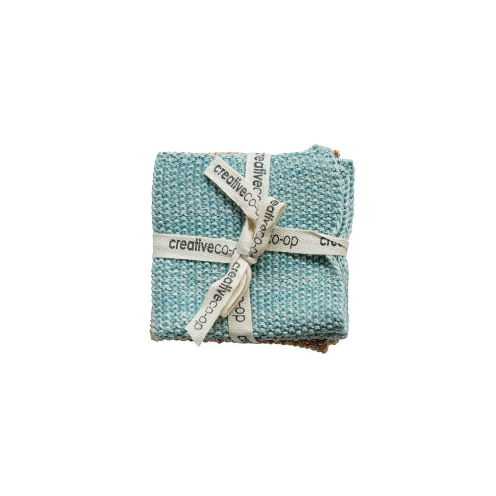 S/2 Cotton Knit Dish Cloths