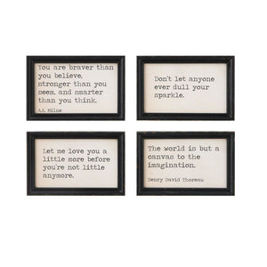 Wood Wall Decor w/Sayings