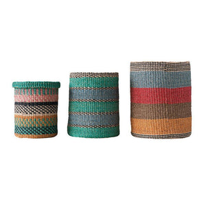 Hand-Woven Abaca Baskets