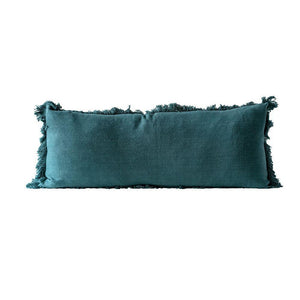 Green Cotton Pillow w/Fringe
