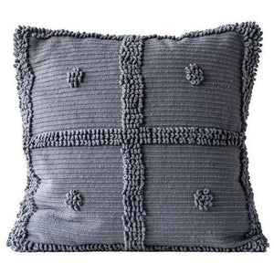 Grey Cotton Chenille Pillow