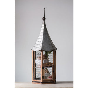 Decorative Metal &Wood Birdhouse