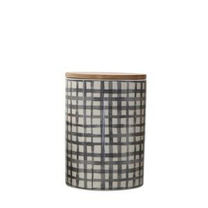 Stoneware Canister w/ Bamboo Lid
