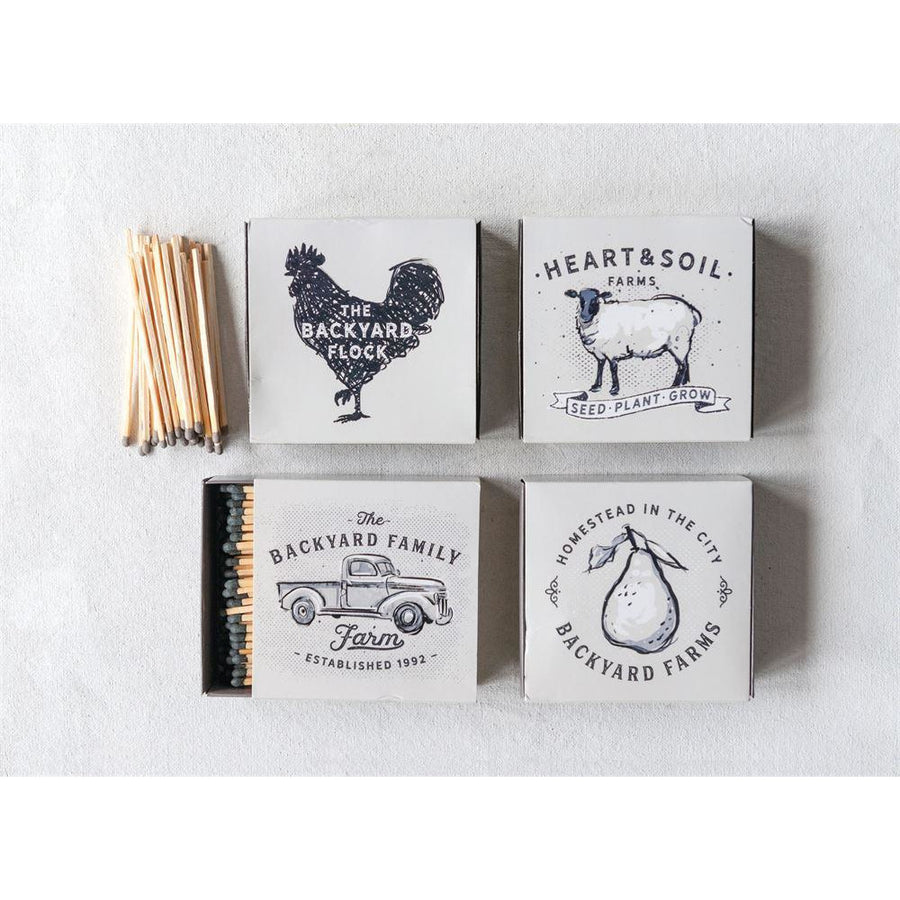 Matchbox w/Safety Matches and Farm Images