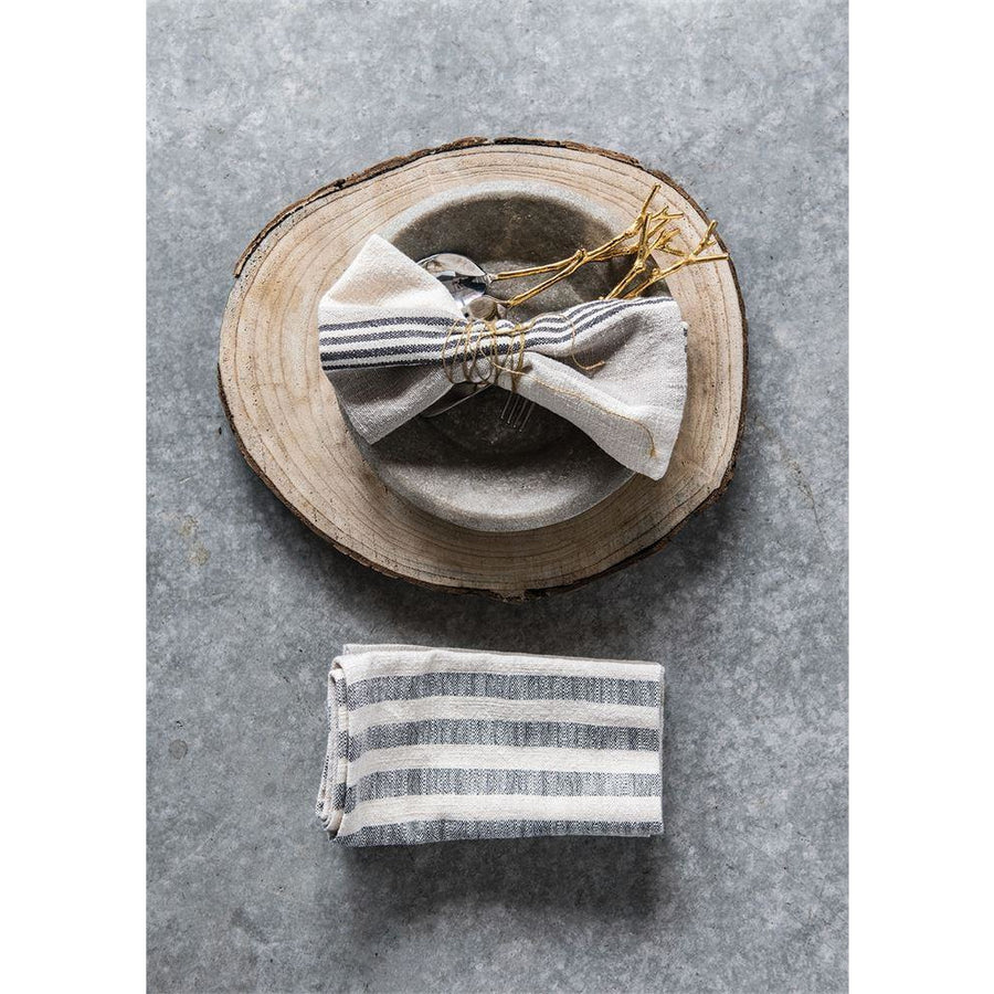 S/4 Cotton Woven Striped Napkins