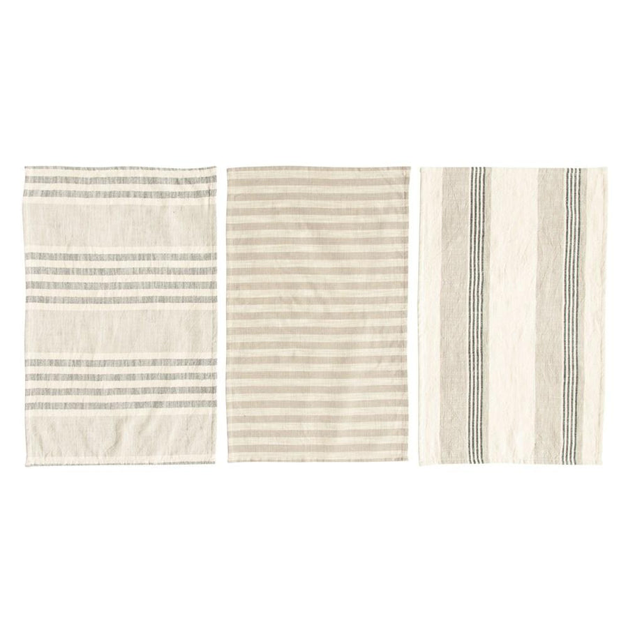S/3 Cotton Striped Tea Towels