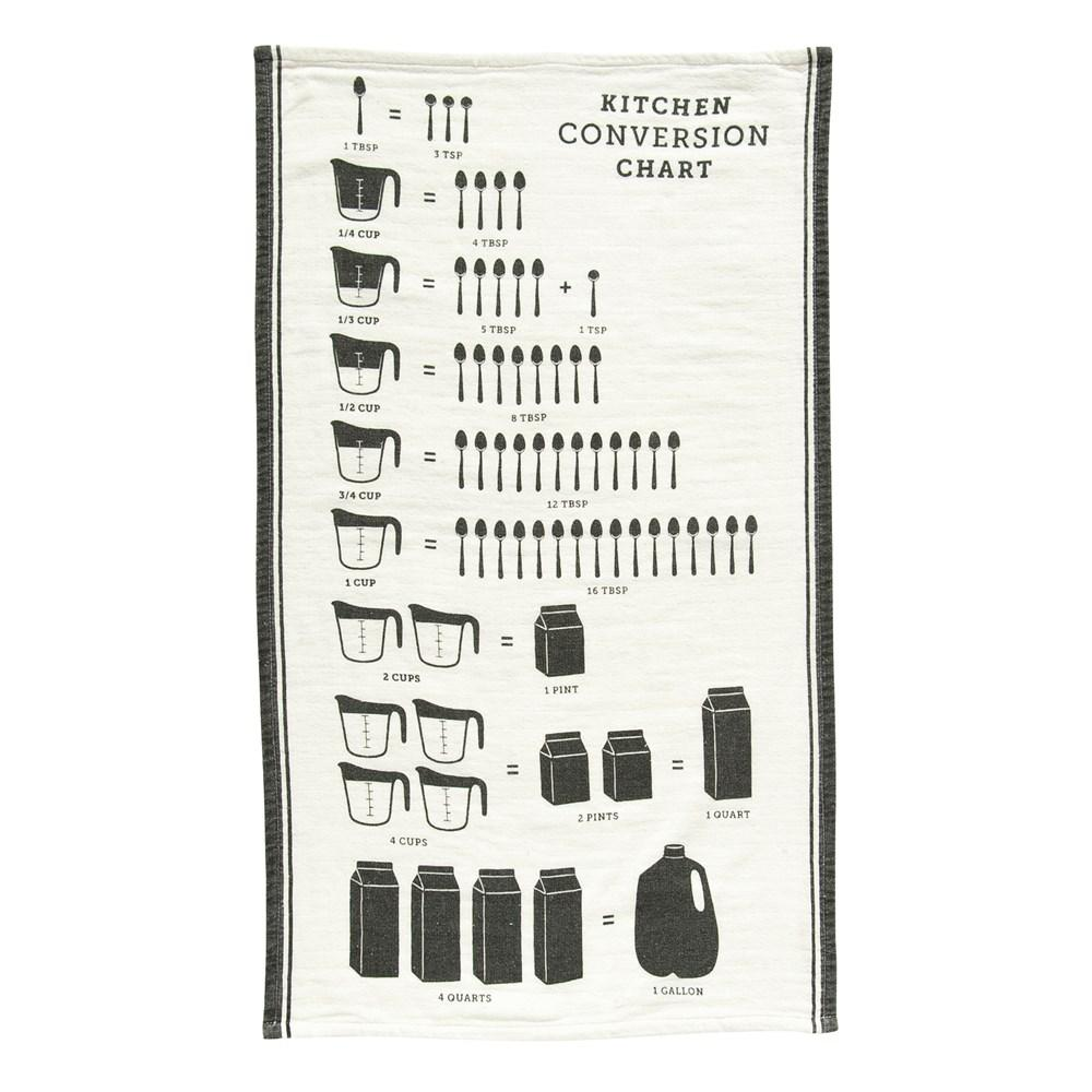 Cotton Tea Towel w/Kitchen Conversion Chart