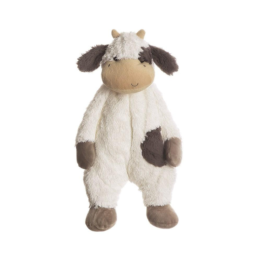 White & Black Plush Cow