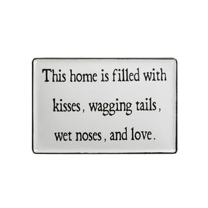 """This Home Is Filled..."" Enameled Wall Decor"