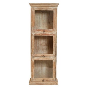 Mango Wood & Glass Cabinet