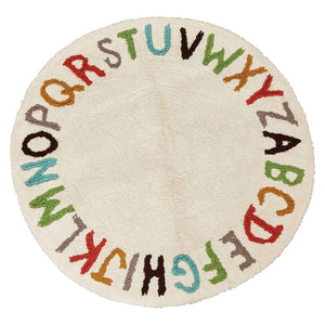 """ABC's""Round Tufted Cotton Rug"