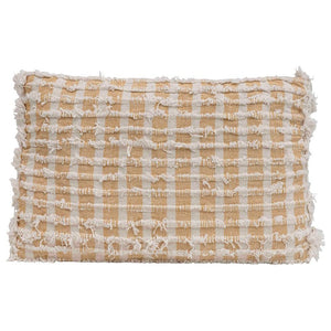 Mustard Yellow Cotton Blend Pillow