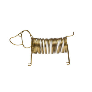 Gold Metal Dog Shaped CardHolder