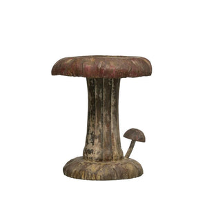 Vintage Reproduction Metal Mushroom Stool w/Distressed Finish