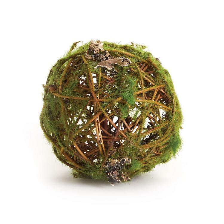 Mossy Wrapped Twig Orb - 4""