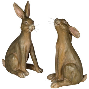 SITTING BROWN BUNNY FIGURINE