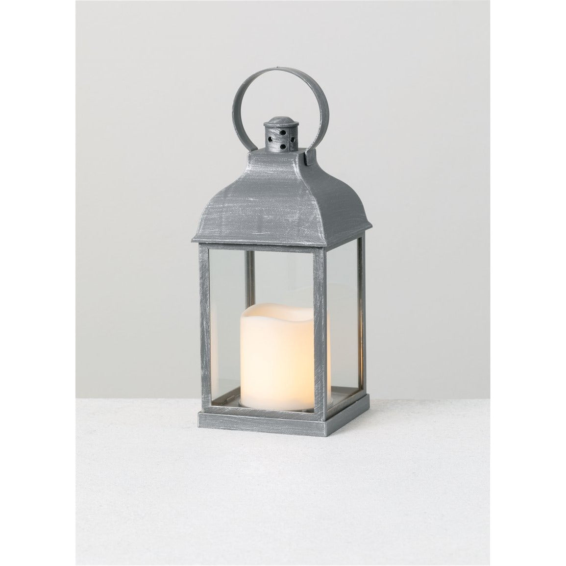 Lantern Candle w/Pillar - Multicolor