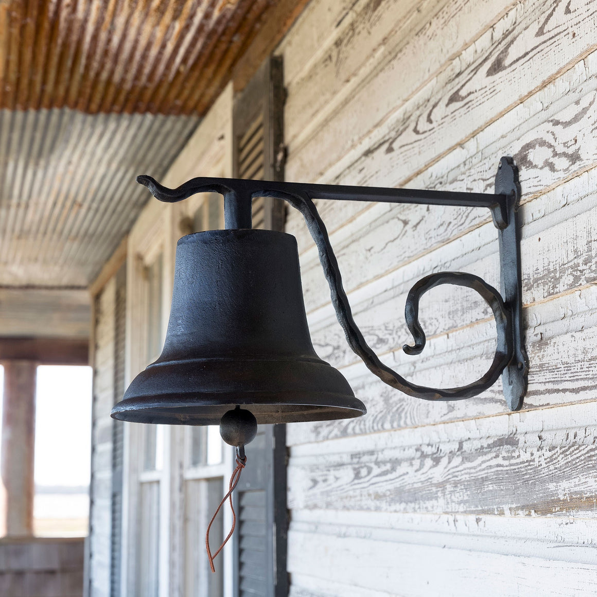 Farmhouse Cast Iron Dinner Bell with Bracket