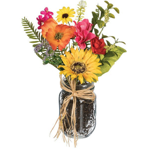 Sunflower/Primrose/Daisy Jar Arrangement