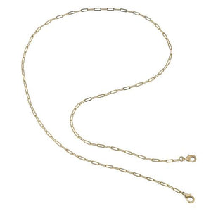 Soleil Small Paperclip Chain Mask Necklace