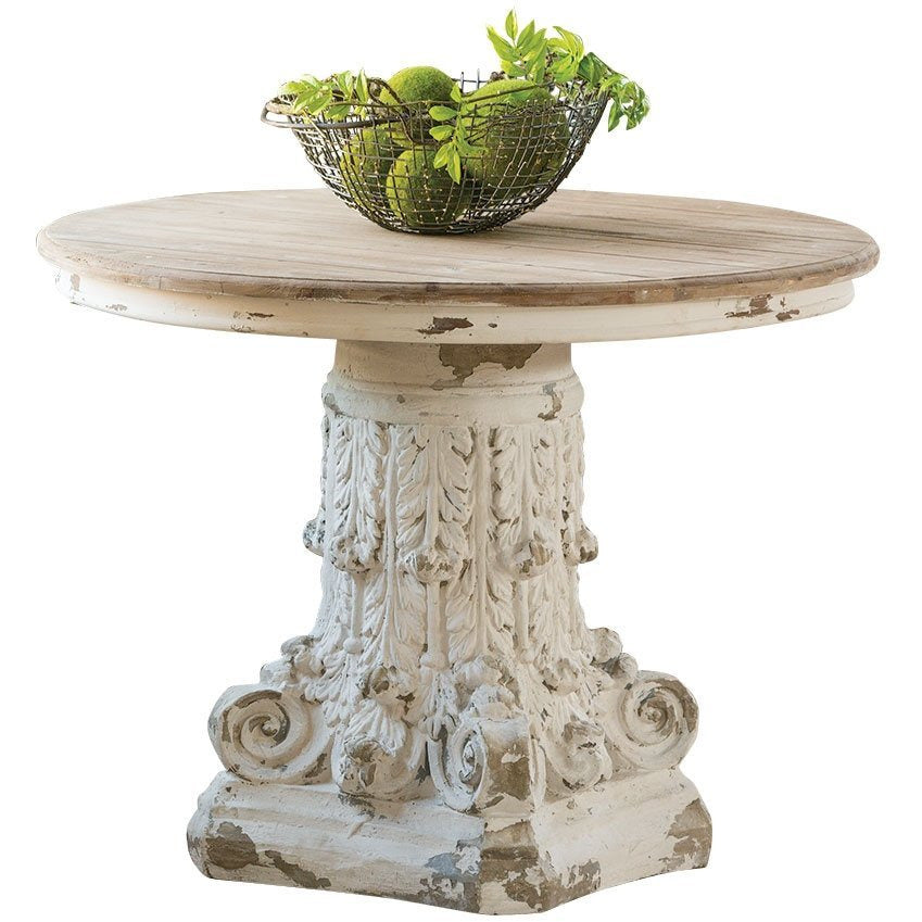 White Round Pedestal Table