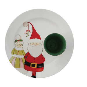 Holiday Stoneware Plate w/Cup