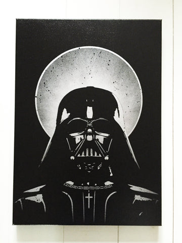 The Holy Vader canvas (Silver Test spray)