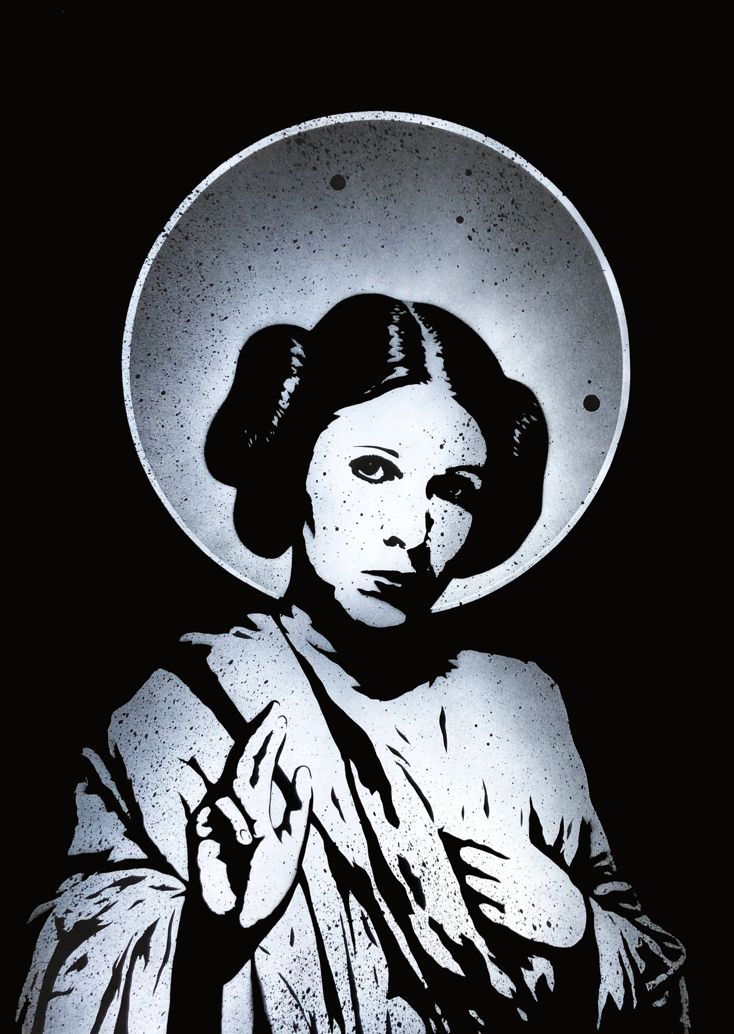 Saint Leia on paper AP WHITE