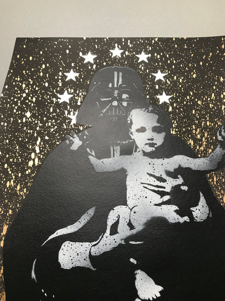 My Vader (1/1 Silver Stars and Gold Splash)