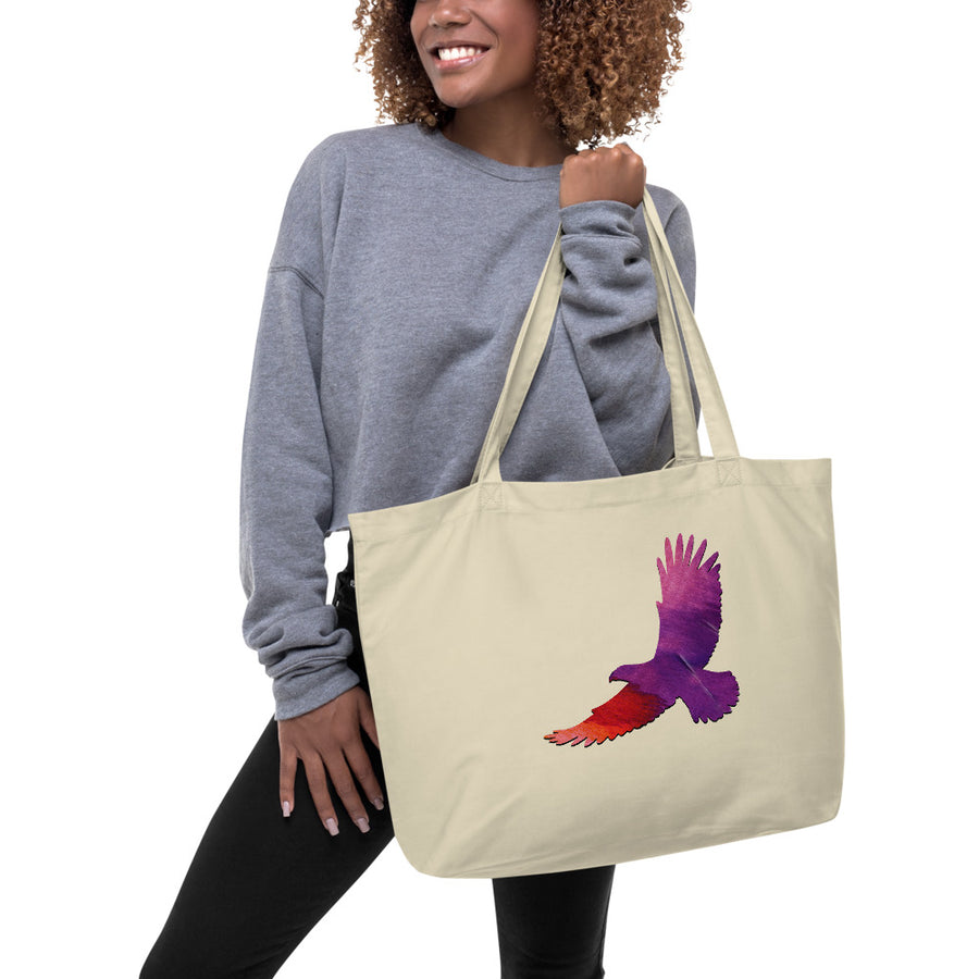Eagle Large organic tote bag