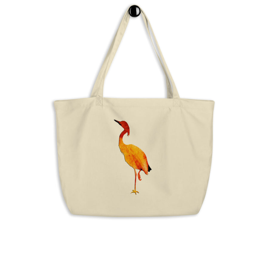 Egret Large organic tote bag