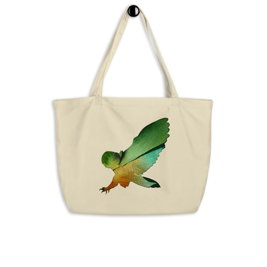 Owl Large organic tote bag