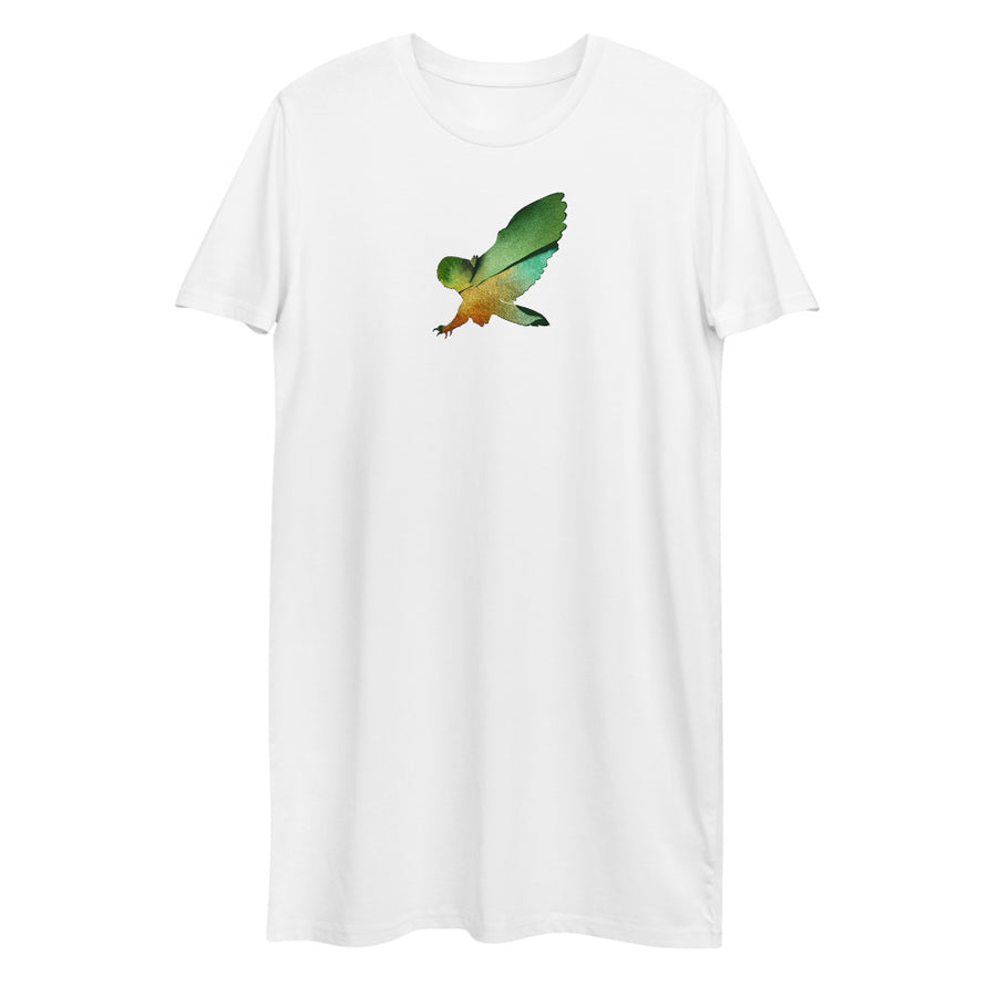 Owl Organic cotton t-shirt dress