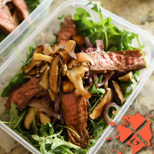 Meal Prep Sundays: Grilled Steak and Mushroom Salad
