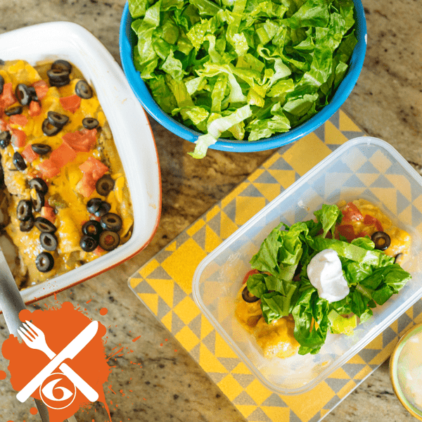 Meal Prep Sundays: Green Chili Chicken Enchiladas