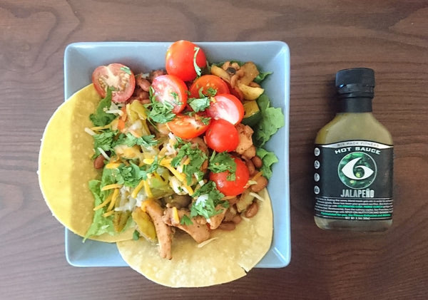 6 Pack Exclusive Recipe: Fiery Jalapeño Taco Salad