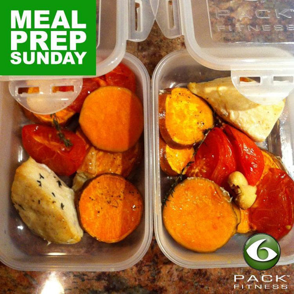 Meal Prep Sundays: Roasted Chicken, Sweet Potatoes & Tomatoes